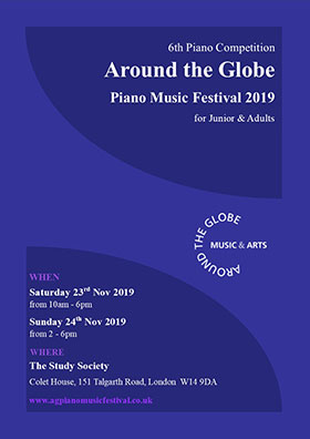 Around the Globe Piano Music Festival Leaflet